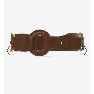 WHBM Brown Women's Woven Leather Belt Sz S